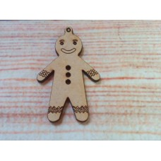 Gingerbread man D2 laser cut MDF
